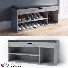 VICCO Schuhschrank Beton Schuhe Regal Schuhbank Schrank Bank Auflage Sitzbank