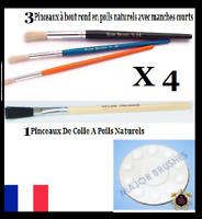 Kits X4 Pinceaux Major Paint Brush Feuille d'Or d'Argent Gold Leaf paper sheets
