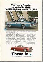 1976 CHEVELLE Malibu advertisement, Chevrolet ad, CHEVY MALIBU sedan and coupe