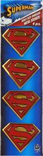 37027 Superman Shield Logo METAL EMBLEM Superhero Comic Sticker Decal PACK OF 4
