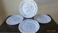 Arcopal France Dinner Plates Veronica Blue Flower Set of 4 Collectible Dishes