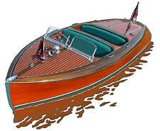 Chris Craft Barrel Back canvas print by Richard Browne Chris-Craft powerboat