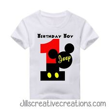 Mickey Mouse T Shirt, Birthday, Mickey Mouse Birthday Shirt, Personalized shirts
