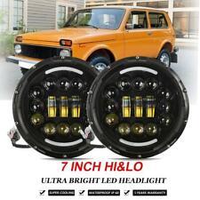 "2x7""LED Headlight Hi-Lo Beam Daytime Run Light For JK VAZ 2121 Lada Niva 4x4 AU"
