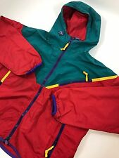 VINTAGE SIERRA DESIGN WIND BREAKER JACKET MULTICOLOR COLORBLOCK 90S MEDIUM