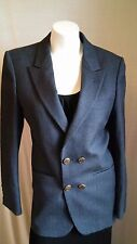 Yves St Laurent pin stripe suit jacket classic preppy navy made in France
