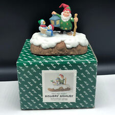 Fitz Floyd Holiday Hamlet Christmas Figurine nib box Silent Night singers elves