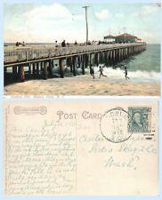 Fishing Pier Asbury Park New Jersey1907  Postcard - Period Dress