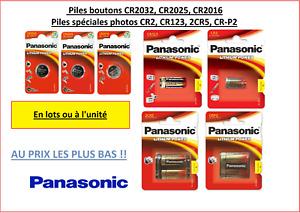 Piles/ Cells Panasonic CR2032,CR2025,CR2016, CR2, CR123, 2CR5, CR-P2