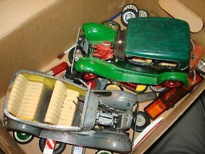 Vintage Hubley Metal Model Cars For Parts and for restoral
