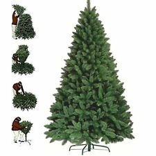 7ft 1200Tips Green Artificial Christmas Tree with Metal Stand Xmas Decorations
