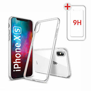 iPhone XS | Max | iPhone XR X Hülle Silikon Handy Schutz Cover Case Transparent