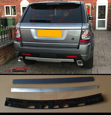 AUTOBIOGRAPHY LOOK REAR SILVER TAILGATE TRIM FOR 2005 2012 RANGE ROVER SPORT