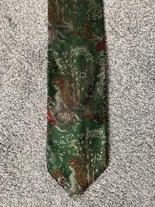 Woodland Scenes Italian Silk Tie