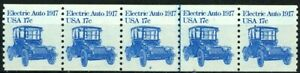 Electric Car 1917 Transportation Coil MNH PNC5 Plate 2 Scott's 1906