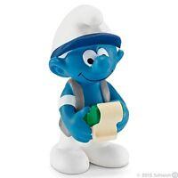 Smurfs - Accountant Bookeeper Office Smurf (Schleich) *NEW* 2015 - (20772)