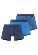 SCHIESSER Jungen Hip-Shorts 3er Pack Gr 140 152 164 176 95/5 CO/EL Boxershorts