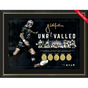 JOHNATHAN THURSTON NORTH QUEENSLAND COWBOYS SIGNED FRAMED UNRIVALLED PRINT