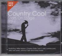 COUNTRY COOL VOL 2 - STARS ON STAGE on 2 CD's - NEW -