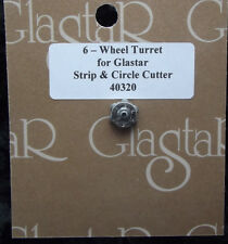 Glastar Strip & Circle Cutter Replacement Head Turret Six Wheels Stained Glass
