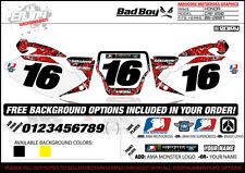 2006-2007 HONDA CRF 250 Team Bad Boy Number Plate Graphics By Enjoy