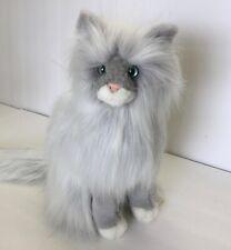 "Rare Vintage Douglas Cuddle Toy Sylvia Cat Gray w Green Eyes 13"" Retired"