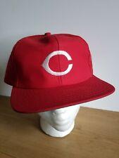Vtg Cincinnati Reds Trucker mesh Snapback hat cap rare 80s MLB baseball