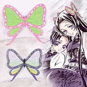 Demon Slayer: Kimetsu no Yaiba Kochou Shinobu Cosplay Props Butterfly Hair clip