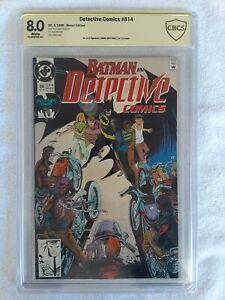 Detective Comics #614 (DC, 5/90) CBCS 8.0 VF (signature by NORM BREYFOGLE)
