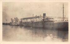 Goodell & Traer Iowa Photographer Hamblin R Allaben~Steamship Dock~c1915 RPPC