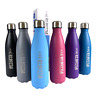 500ml Sport Water Bottle 17oz Double-Wall Stainless Steel Vacuum Flask Insulated