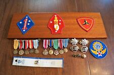 Lot of WW2 and other Campaign Eras USA Medals Pins Patches Plaque