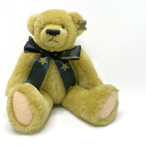 Annette Funicello Jointed Bear With Blue Star Scarf 13""