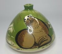 Sascha Brastoff Mid Century Igloo Ashtry Signed walrus dome rare footed green