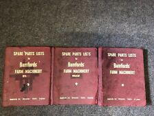 Bamfords Farm Machinery, 29 Rare Spare parts Books Full OF INFORMATION YEAR 1951