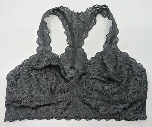 Jezebel by Felina Women's Gray Stretch Lace Bralette - Size Large - NWOT
