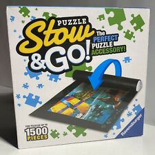 """New Ravensburger 'Stow and Go' Puzzle Storage System   Felt Roll Up Mat 46""""X26"""""""