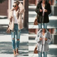 Women Warm Teddy Bear Coat Cardigan Winter Fleece Overcoat Jacket Parka Outwear