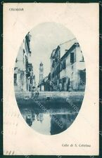 Venezia Chioggia Calle Santa Caterina cartolina QT4044
