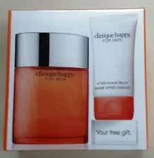 NEW Clinique Happy Men Set 100ml Edt Spray + 50ml Aftershave Balm NIB & Sealed