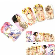 Nagel Sticker Aufkleber Japan Manga Girl Nail Art Nägel Fuß Water Decal