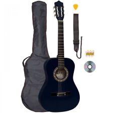 Palma 3/4 Tailles Noir Guitare Classique Kit Sac Inc, Sangle, Cordes & Diapason