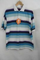 LACOSTE Mens Polo Shirt DEVANLAY STRIPED SPORT Short Sleeve Size 6 Large P98
