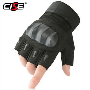 Tactical Rubbe Gloves Half Finger Paintball Fingerless Shooting