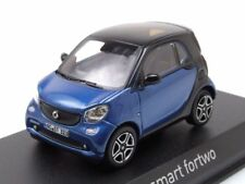 Smart fortwo 2015 azul/negro, Coche modelo 1:43 / Norev