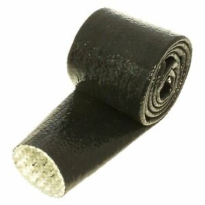 "Heatshield Products HP Fire Shield Sleeve Black 1/2"" ID x 3ft Roll"