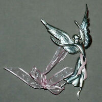 Christmas Ornament Metal Pewter Angel Fairy Ballerina Dancing ALICE M. SWAIN 6""
