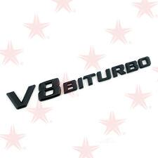 OEM Black V8 Bi Turbo Side Fender Badges Emblems 3d Logo for Mercedes S63 E63