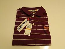 NWT AUTHENTIC SUPERDRY JAPAN SPIRIT SHORT SLEEVE  STRIPE  POLO TEE / Size SMALL