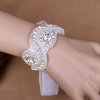Applique Bracelet White Jewelry Crystal Bridal Graceful Women Jewelry Bride